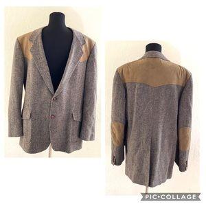 Pendleton Sport Coat, wool with suede shoulders
